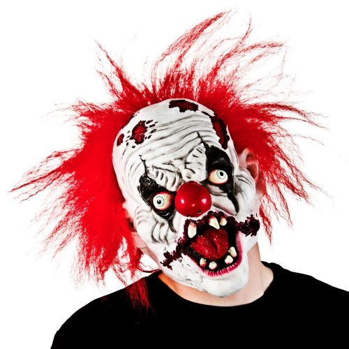 Adult Unisex Zombie Clown with Hair Hair (Adult) Masquerade for Fancy Dress